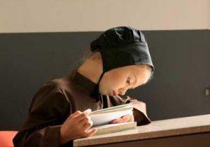 Amish Girl Reading